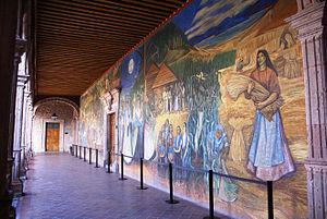 Alfredo Zalce - View of the mural in the Palacio de Gobierno