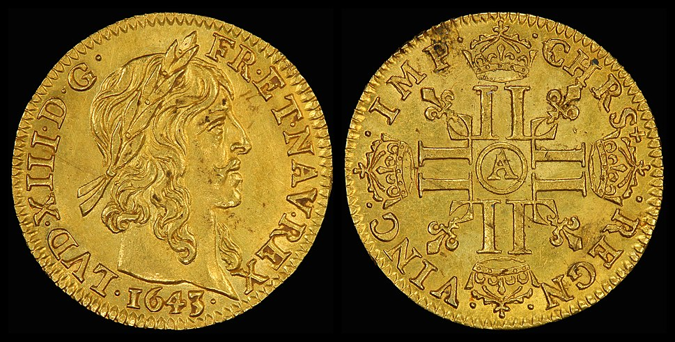 France 1643-A Half Louis d'Or