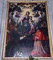 Francesco Curradi, Madonna del rosario con i santi Stefano, Domenico, Carlo Borromeo e Francesco.JPG