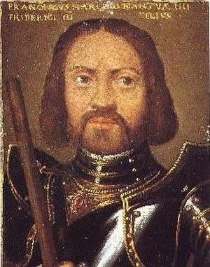Francesco II Gonzaga, Marquess of Mantua - Portrait of Francesco II Gonzaga in the Uffizi, Florence