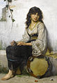 Francis Alfred Delobbe The Little Tambourine girl 1884.jpg