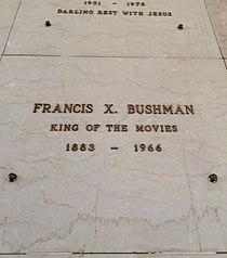 Francis X. Bushman Grave.JPG