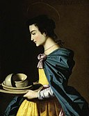 Francisco de Zurbarán (1598-1664) (studio of) - St Rufina - M.83 - Fitzwilliam Museum.jpg
