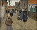 Frans van Leemputten - Distribution of bread in the village.jpg