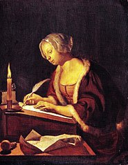 Young Woman Writing a Letter