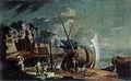 Franz Ignaz Flurer - Morsko obrežje z ladjo v popravilu.jpg
