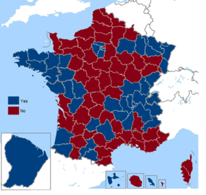 French European Constitution referendum, 2005 - Image: French European Constitution referendum (including overseas), 2005