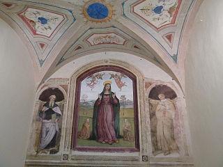 Madone des Grâces entre les Saints Antoine l'Abbé et Antoine de Padoue