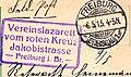 Friedrich-Gymnasium Freiburg (im Breisgau) Lazarett Stempel WK1.jpg