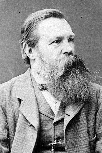 Friedrich Engels - Engels in 1877, in Brighton, by William Hall