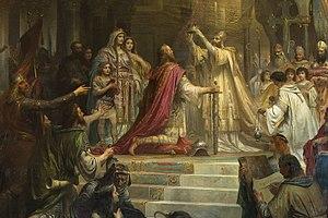 Friedrich Kaulbach - Coronation of Charlemagne, 1861