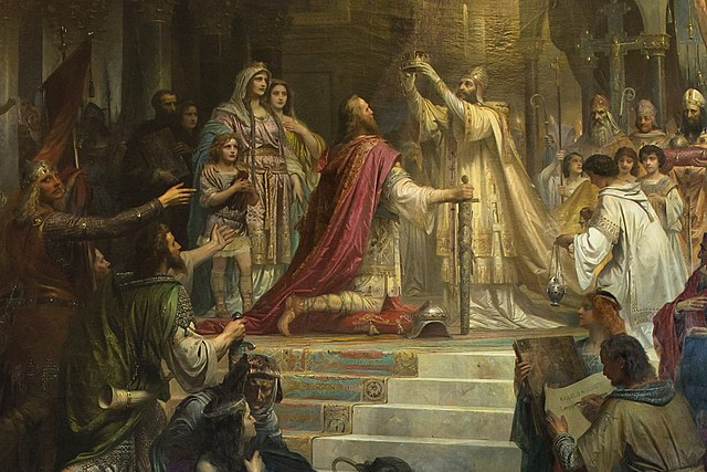 Imperial Coronation of Charlemagne, by Friedrich Kaulbach, 1861