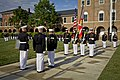 From left, the 17th Sergeant Major of the Marine Corps, Sgt. Maj. Micheal P. Barrett; the 35th Commandant of the Marine Corps, Gen. James F. Amos; and Gen. George J. Flynn, participate in a retirement ceremony 130509-M-LU710-199.jpg