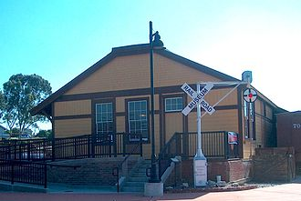 San Luis Obispo Railroad Museum - The 1894 former Southern Pacific freight house, occupied by the San Luis Obispo Railroad Museum