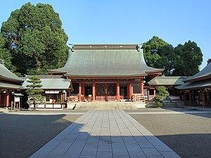 Fujisaki Hachimangū - The honden, or main shrine