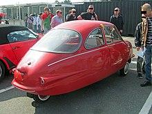 Rear view of a fibreglass car