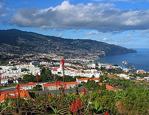 A view of Funchal, from Pico da Cruz, in Madeira