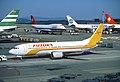 Futura International Airways Boeing 737-4Y0; EC-ETB@ZRH, July 1990 BYT (5883719743).jpg