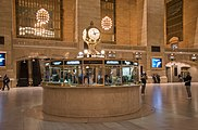 The Main Concourse's round information booth