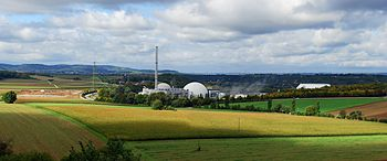 Panoramic image of Neckarwestheim nuclear powe...