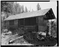 GUEST CABIN, VIEW TO SOUTHEAST - Burland Summer Home Complex, Guest Cabin, Island Park, Fremont County, ID HABS ID,22-ILPA.V,1-B-1.tif