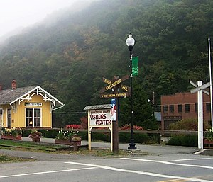 Marlinton, West Virginia - Visitors Center and Trailhead in Marlinton.