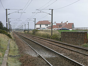 Glasgow, Paisley, Kilmarnock and Ayr Railway - The site of the closed Gailes station in 2007