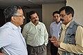 Ganga Singh Rautela And Subhabrata Chaudhuri Discusssing With Arvind Paranjpye - Professional Enrichment Programme On Astronomy Awareness - NCSM - Kolkata 2011-09-22 5644.JPG