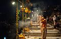 Ganga aarti at Dasaswamedh Ghat, Varanasi 04.jpg