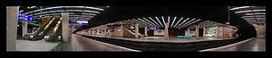 La Défense Station - La Défense RER platform panorama