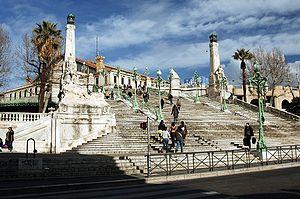 Marseille-Saint-Charles Station - Saint-Charles Station main staircase.