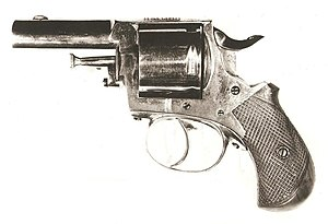 Assassination of James A. Garfield - Smithsonian file photograph of the British Bulldog revolver used by Charles Guiteau to assassinate President James A. Garfield in 1881