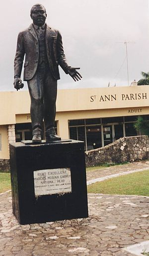 Saint Ann's Bay, Jamaica - Statue of Marcus Garvey