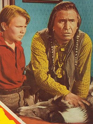 Chief Yowlachie - Chief Yowlachie (right) with Gary Gray in a promotional poster for the 1951 film The Painted Hills