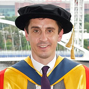 Gary Neville - Neville receiving an honorary doctorate from the University of Salford in 2014