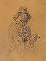 Gavarni P. attr. - Pencil - Un vieux philosophe - 17x24cm.jpg
