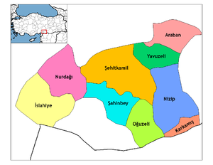 Districts of Gaziantep