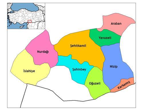 Gaziantep'in ilçeleri