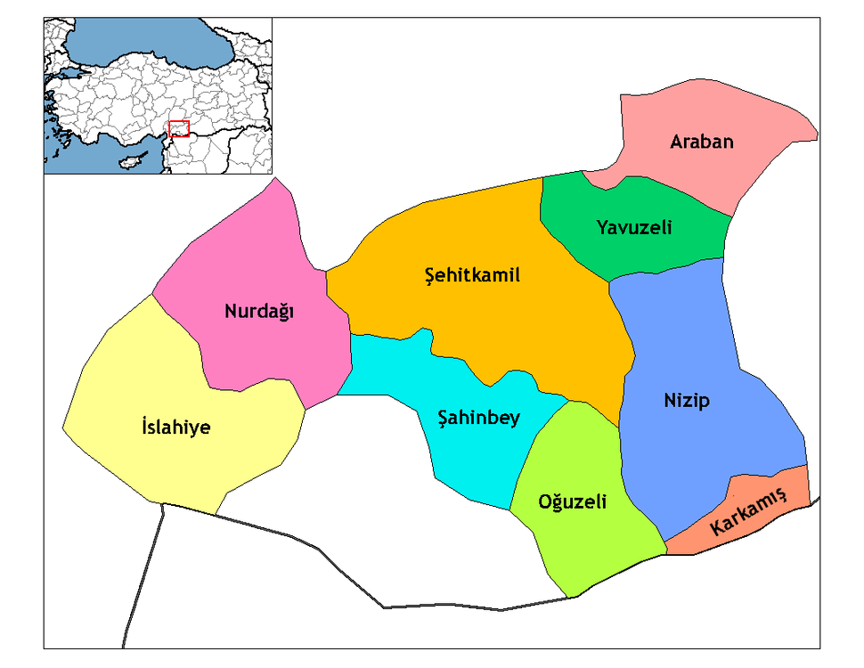 Gaziantep districts