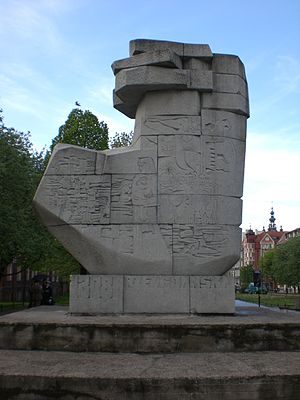 History of Gdańsk - Monument in Gdańsk to the memory of people murdered by Teutonic Knights in 1308