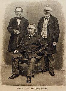 Vinzenz Lachner (links) und seine Brüder (vor 1890) (Quelle: Wikimedia)