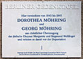 Gedenktafel Kissingenstr 25 (Pank) Dorothea Georg Möhring.jpg