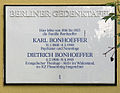Gedenktafel Wangenheimstr 14 (Grunew) Karl Bonhoeffer.JPG