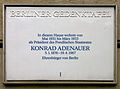 Gedenktafel Wilhelmstr 54 (Mitte) Konrad Adenauer.JPG