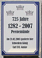 Gedenktafel Zum Hafen 4 (Peenemünde) Carl XVI Gustaf.JPG