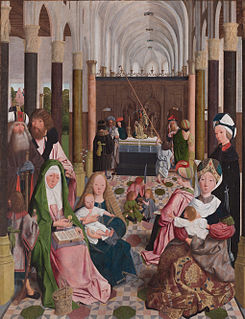 artistic theme, depicting the extended family of Jesus descended from his maternal grandmother Saint Anne, including John the Evangelist, James the Greater, James the Less, Simon and Jude
