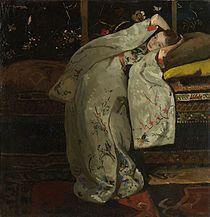 George Hendrik Breitner - Meisje in witte kimono (Geesje Kwak).jpg