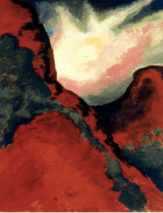 Palo Duro Canyon paintings of OKeeffe Wikimedia list article