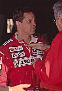 Gerhard Berger Austrian racing driver