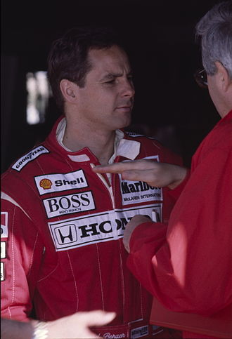 Gerhard Berger - Berger at the 1991 United States Grand Prix